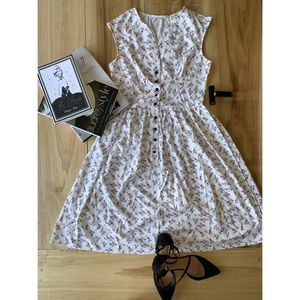 SHEIN 50s Ditsy Floral Dress